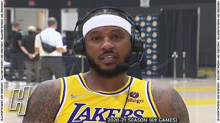 Carmelo Anthony Media Day Full Interview   2021 Lakers Media Day