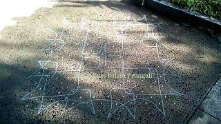 simple neli / sikku kolam step by step| big dot rangoli designs | 21 pulli kolangal |21 dots muggulu