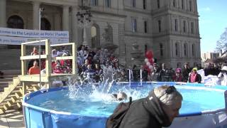 Senator Jones takes Polar Plunge for Special Olympics.