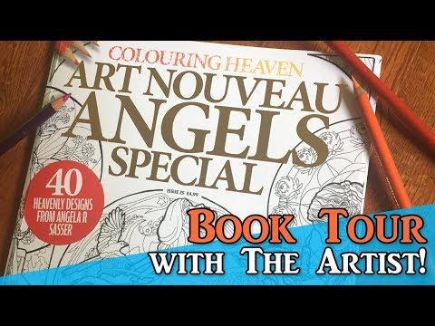 Book Tour:  Colouring Heaven Magazine Art Nouveau Angels Special