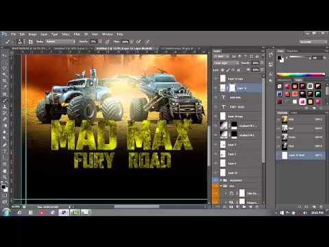 HOW TO MAKE MOVIE POSTER(MAD MAX) SPEED ART TUTORIAL