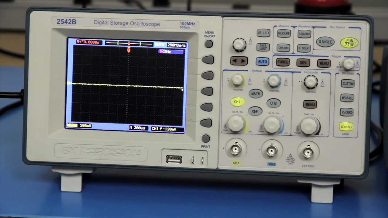 Building A Oscilloscope : How to make phase shift measurements using y mode on a
