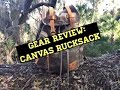 Gear Review: Canvas Rucksack