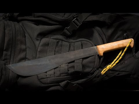 Making a Machete with No Power Tools - Survival, Prepper, Beginning Blade Makers