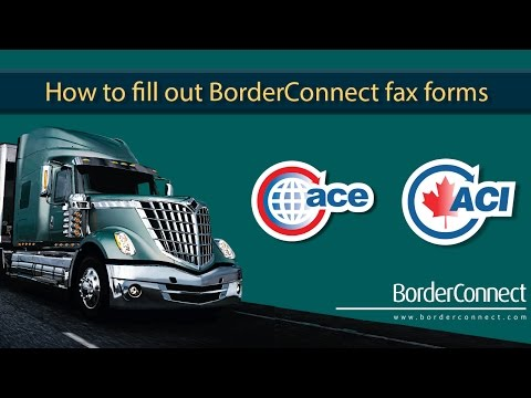 How to fill out BorderConnect fax forms