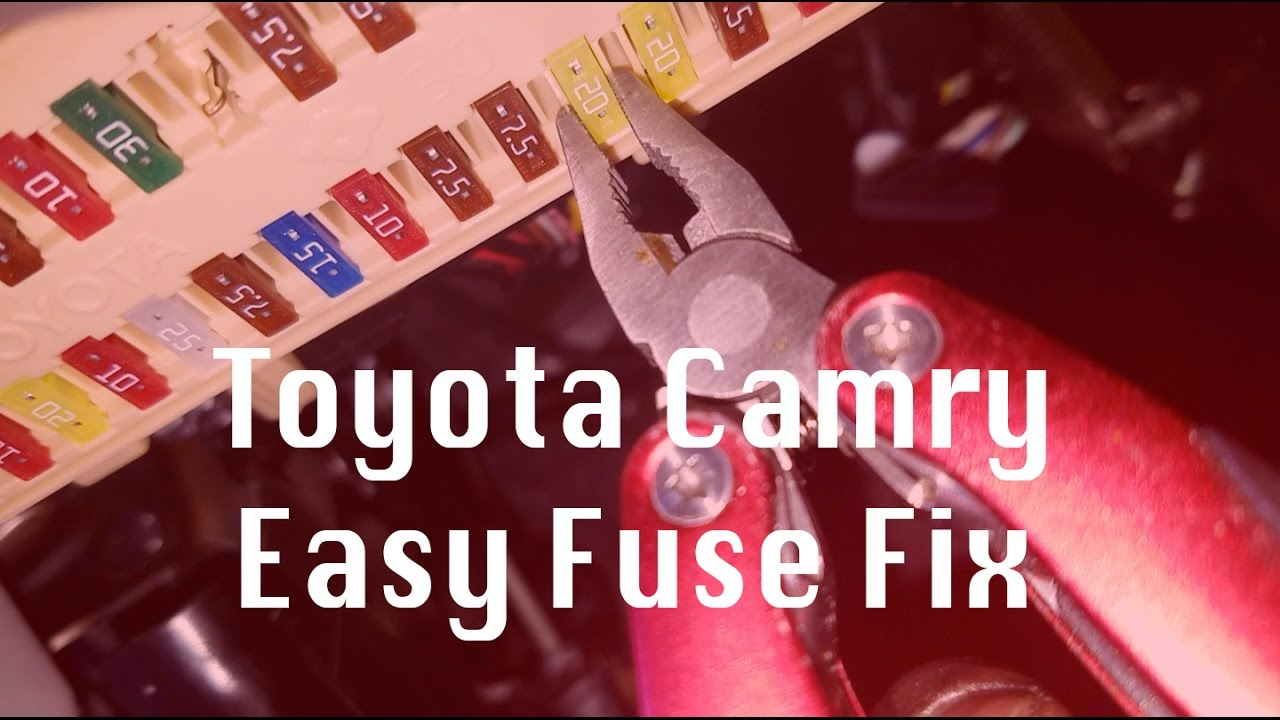 Fuse Fix For Cig Lighter Power Adapter 2011 Toyota Camry Youtube Box 2001