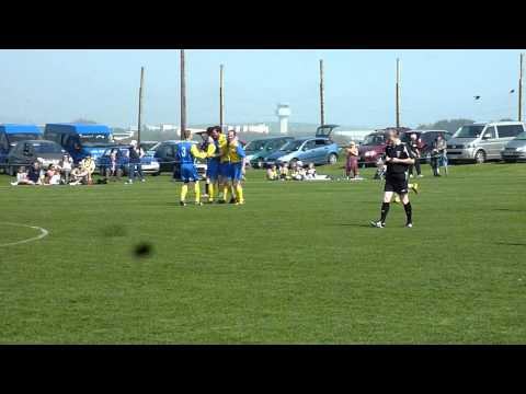 St John's Stephen Glover's opening goal v Colby Wo...