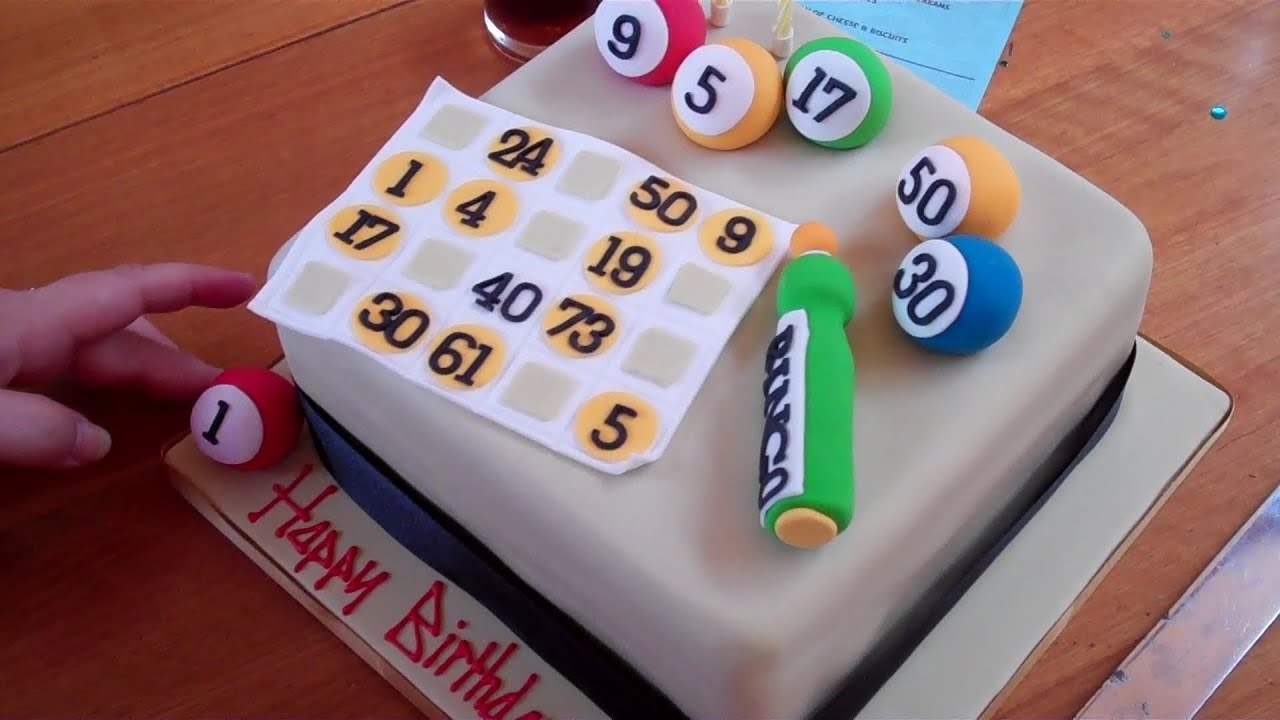 How To Make A Bingo Birthday Cake