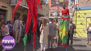 Prince Charles and Camilla enjoy a street party in Grenada thumbnail