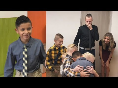 11-Year-Old Orphan Hugs Adoptive California Family in Emotional Reunion