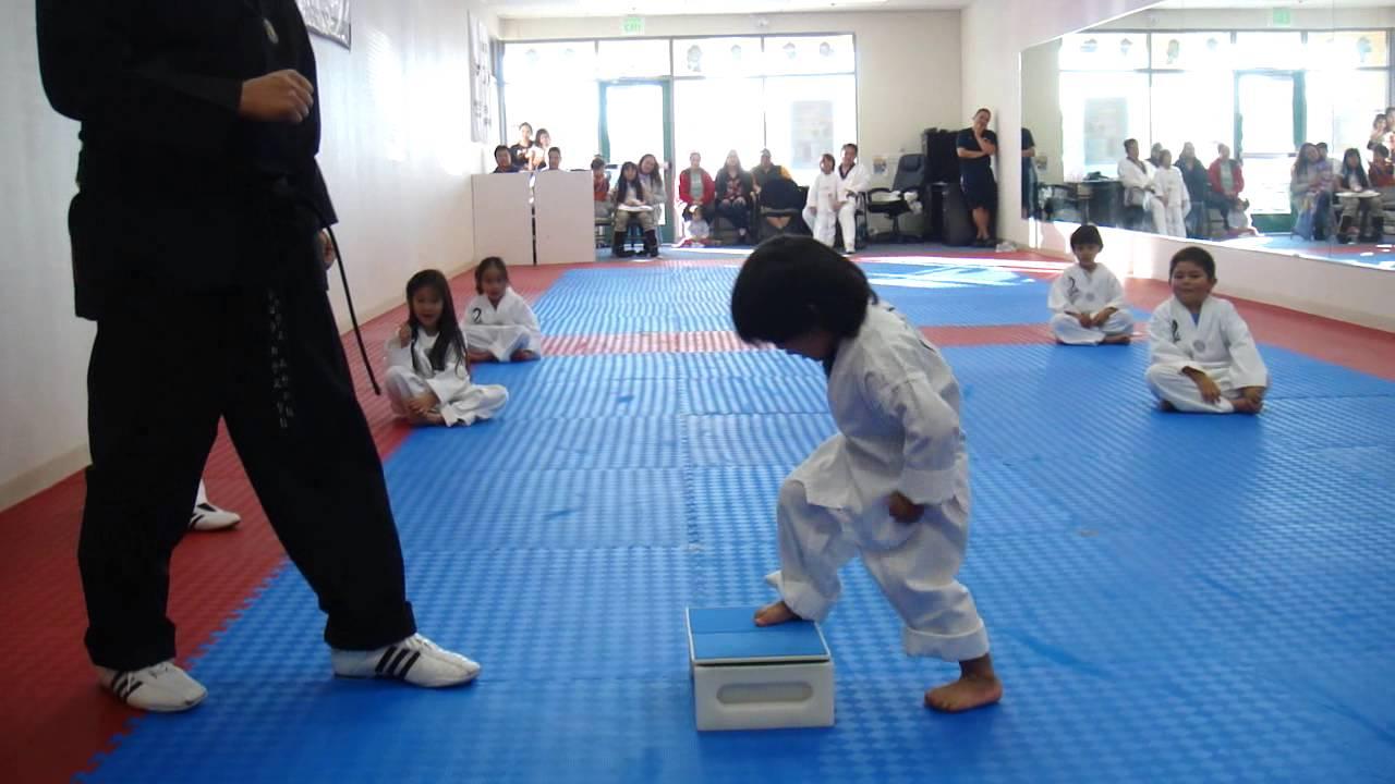 3-Year-Old Tries to Break Board in Taekwondo   Taekwondo Kid