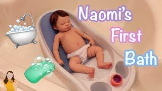 Silicone Baby Naomi's First Bath 🛁   Kelli Maple