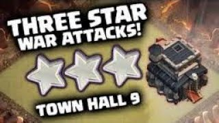 Clash of Clans | Th9 Attack Strategy Three Star in Any Base Without Max Troops with low lvl Heroes.
