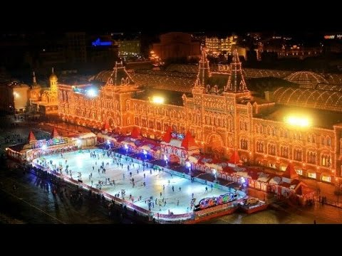 Ice-skating rink and fair opens in Moscow's historical square