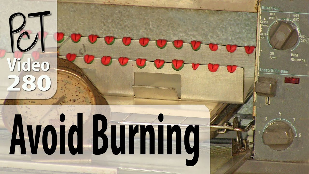 Baking Polymer Clay In Toaster Oven Without Burning Youtube