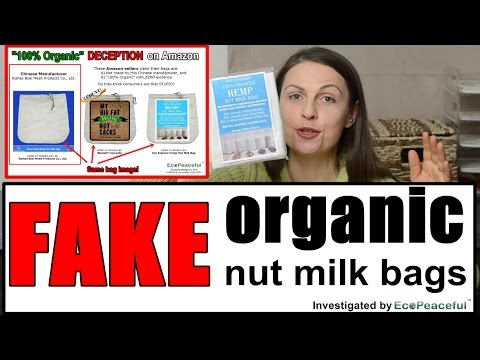 FAKE Organic Nut Milk Bags (not even 100% natural) on Amazon. Burn Test (feat. Hemp Nut Milk Bags)