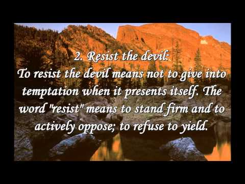 CHRISTIAN : Submit To God ! Resist The Devil ! [James 4:7-10]