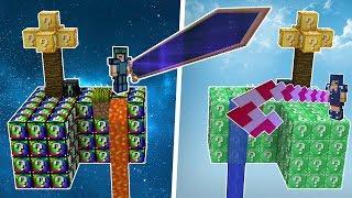 MİNECRAFT'TA HİÇ GÖRMEDİĞİNİZ KILIÇLAR (Minecraft Şans Blokları Kapışması)