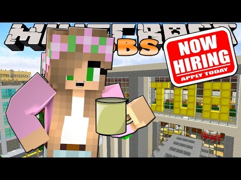 Minecraft Jobs-Little Kelly Adventures- WORKING IN THE JOB CENTRE