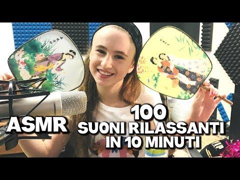 100 SUONI RILASSANTI PER TE IN 10 MINUTI CHALLENGE ASMR - by Charlotte M./100 TRIGGER ASMR CHALLENGE