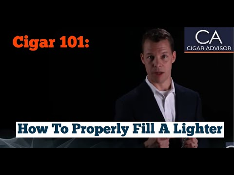 How to Properly Fill a Lighter with Butane - Cigar 101