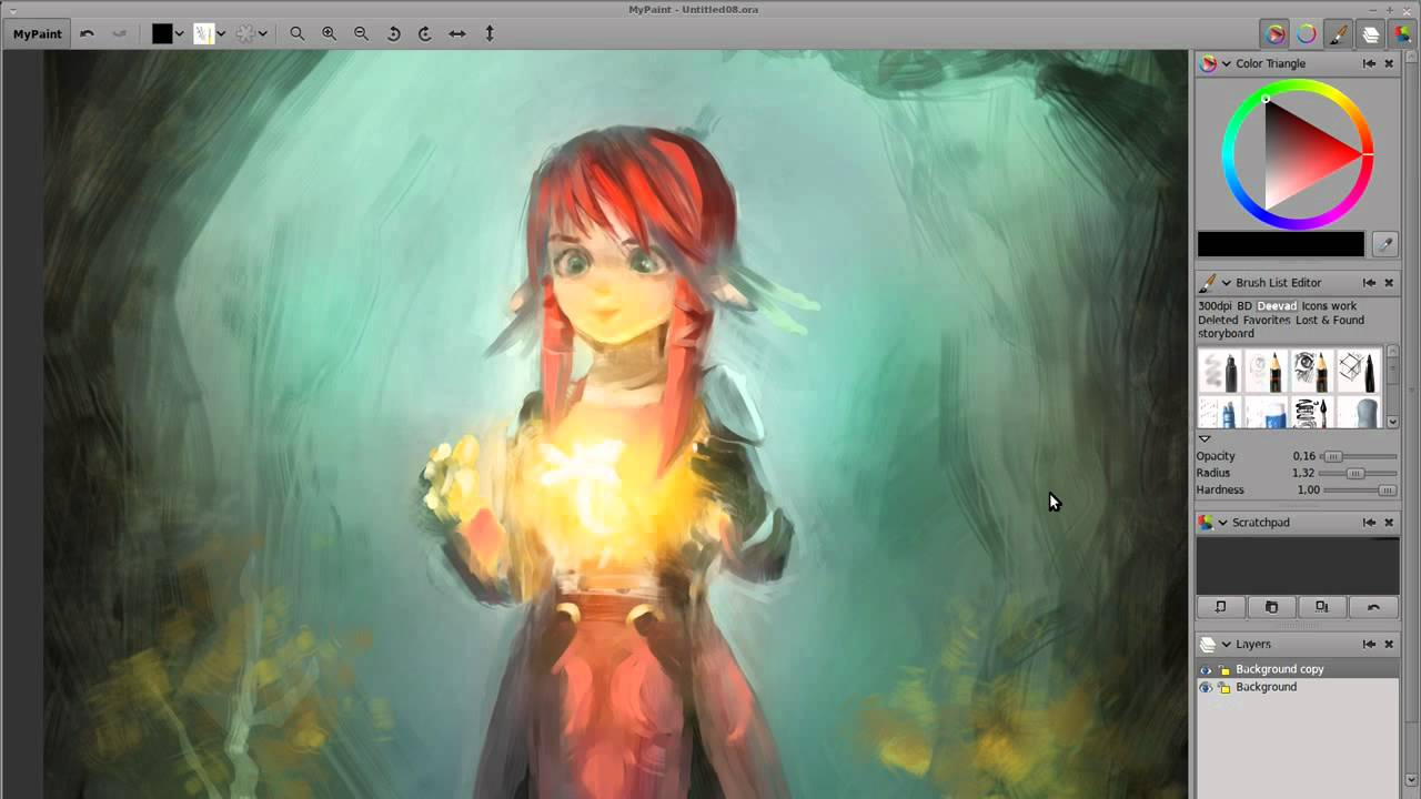 Kynitia timelapse floss digital painting doovi Digital art painting software