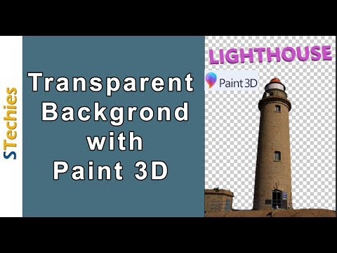 How to make transparent background in paint 3D