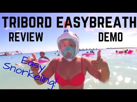 Tribord Easybreath Full Face Snorkel Review - From Waikiki Hawaii! (SUBEA MASK)