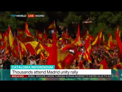 Thousands gather for protest in Madrid
