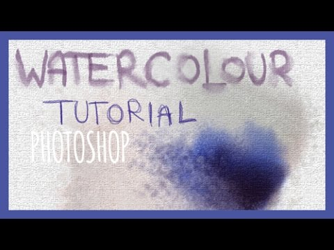 Digital Art Tutorial: Watercolour (Photoshop - incl. BRUSH SET)