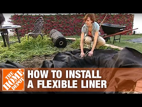 How to install a flexible liner the home depot youtube for Koi pond kits home depot