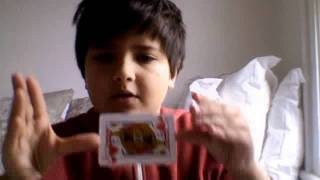 Magic trick  card fly how yo do it