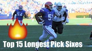 Top 15 Longest Pick Sixes of the 2018-19 College Football Season