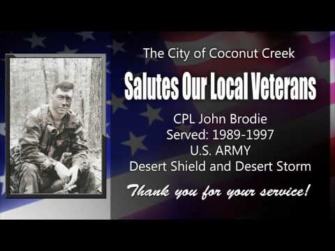 Veteran John Brodie Salute Coconut Creek Florida