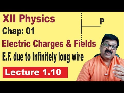 1.10 || Electric Field due to Infinite Wire || Class 12 PHYSICS ||