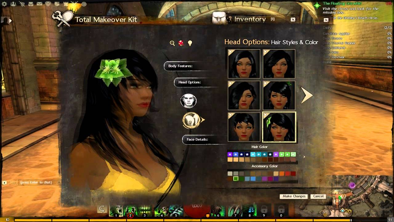 Gw2 Human Exclusive Hairfacenew Colors Youtube