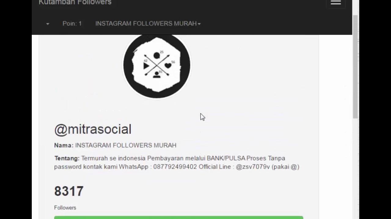 auto followers gratis instagram 2017 bisa sampai 8000 followers youtube