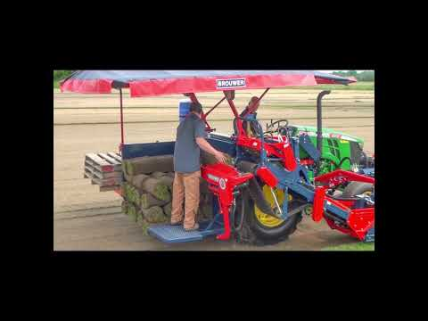 Brouwer 1576 Sod Harvester Video