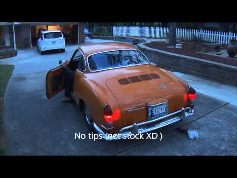 Volkswagen Karmann Ghia Opened Exhaust (No Tips)