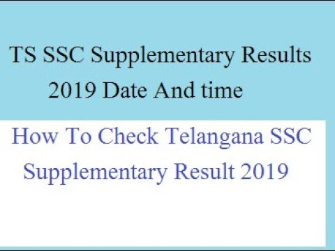 TS SSC Supplementary Results 2019 Manabadi TELANGANA SSC 10TH SUPPLY  RESULTS BSE TELANGANA GOV IN