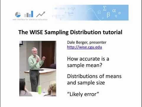 WISE Statistics: Sampling Distribution Tutorial