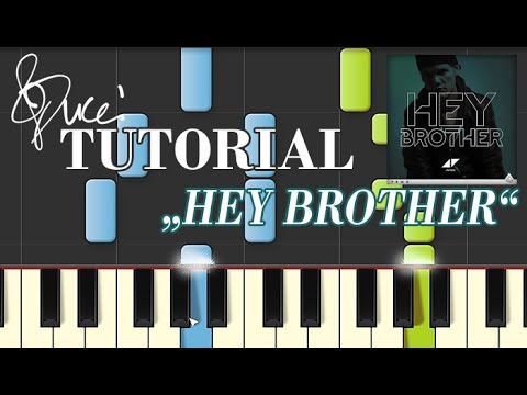Avicii - Hey Brother (piano tutorial + MIDI)