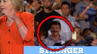 Orlando Gunman Omar Mateen's Father Seen Smiling Behind Hillary Clinton at Rally