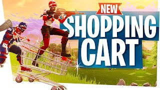 The NEW Shopping Cart is HILARIOUS! - Fortnite Shopping Cart Gameplay