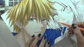 """Speed Drawing - Usui Takumi and Ayuzawa Misaki (Kaichou wa Maid-sama!) """"Valentine"""