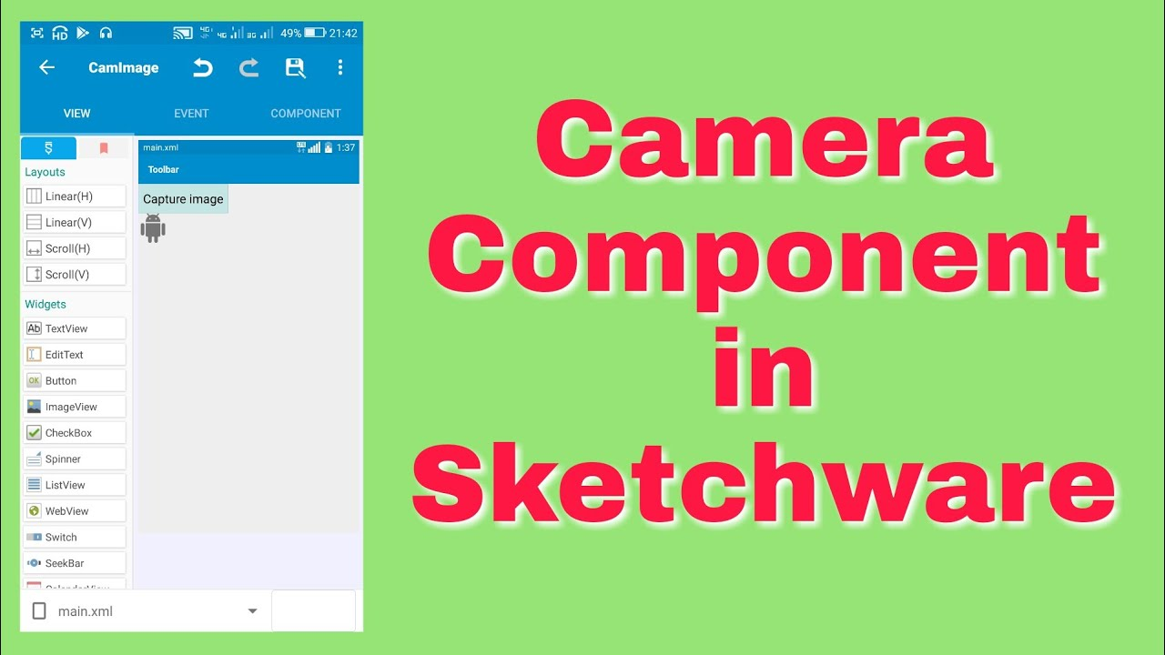 Launch Camera from Sketchware App and get image to ImageView