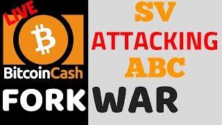 LIVE tracking the Bitcoin Cash hard fork. BCHabc vs BCHsv hash war?...