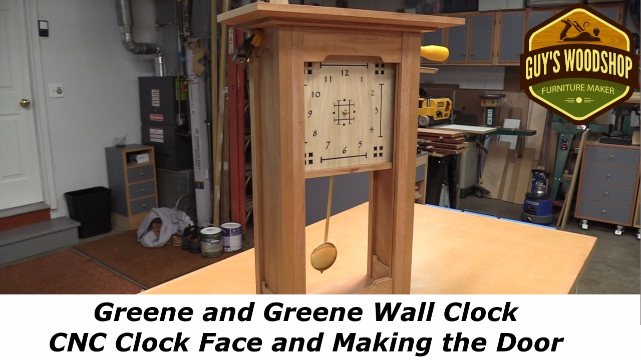 Greene and Greene Wall Clock - CNC Clock Face, Making the Door Pt 2