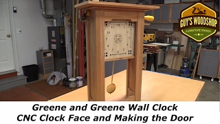 Greene and Greene Wall Clock - CNC Clock Face, Making the Door Pt.2