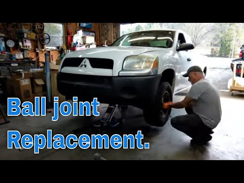Mitsubishi Raider/Dodge Dakota ball joint replacement. DIY repairs.